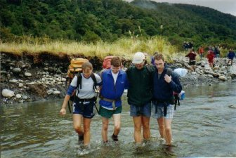 Practising river crossing