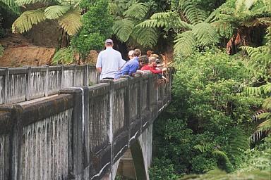 Bridge to Nowhere - along the side