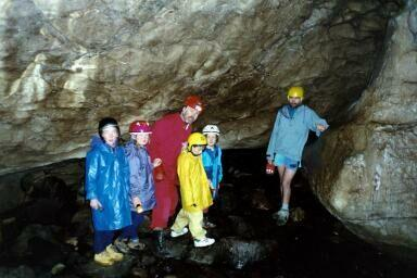 Caving at Okupata, DoC summer programme. Photo Dement family