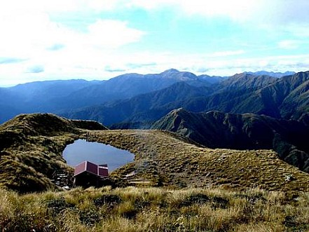 New Mangahuka Hut from the top of Mangahuka
