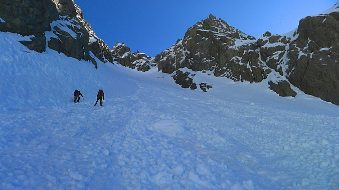 Entering the base of the Hopeless Couloir