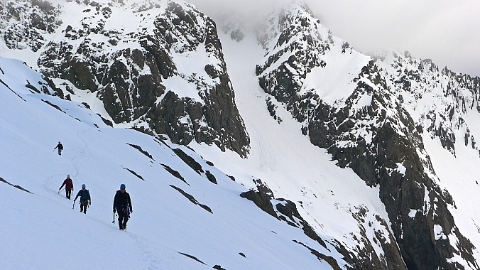 Mt Hopeless couloir and TTC climbers