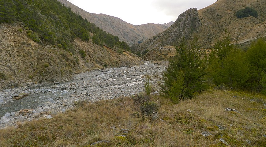 Krushen Stream - lots of river erosion and debris flow activity going on in this area