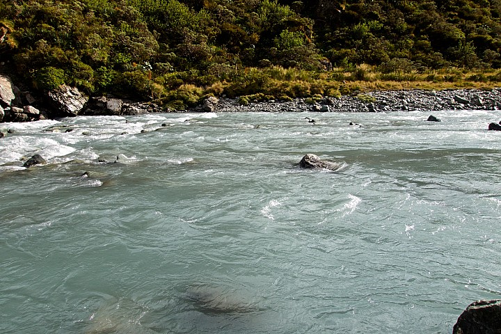 Where we finally crossed the Dart River