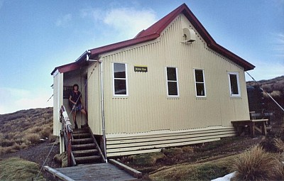 The front of Kime Hut, August 2003