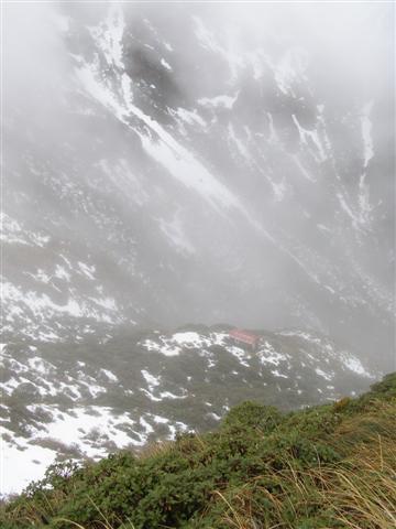 Dundas Hut from above